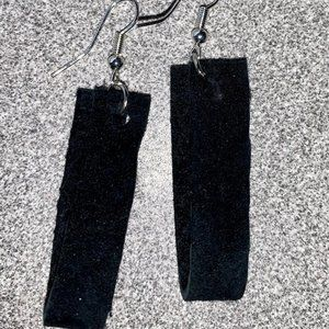 Little Black Dress - leather earrings